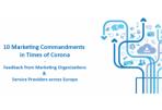 Europos marketingo organizacijų ir paslaugų teikėjų įžvalgos apie marketingo situaciją COVID-19 krizės metu